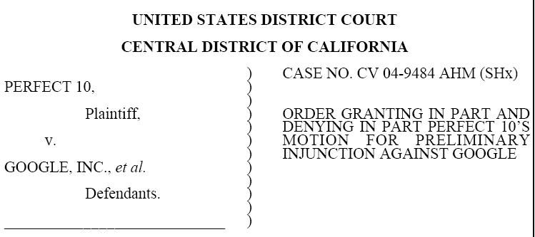 The actual court injunction against Google
