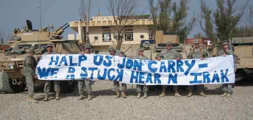 Soldiers to Kerry: Message Received!